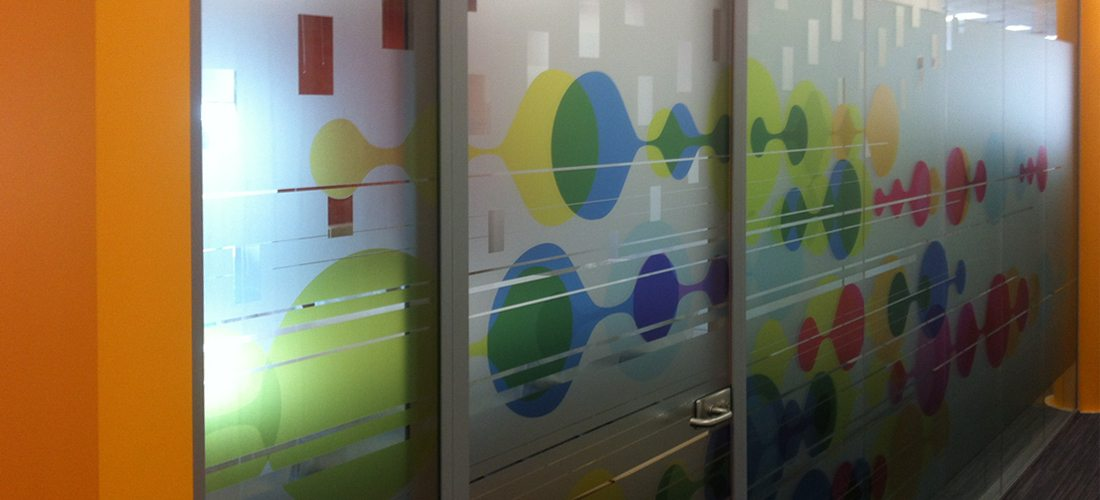 Glass Art Design Installation Etching Frosted Options