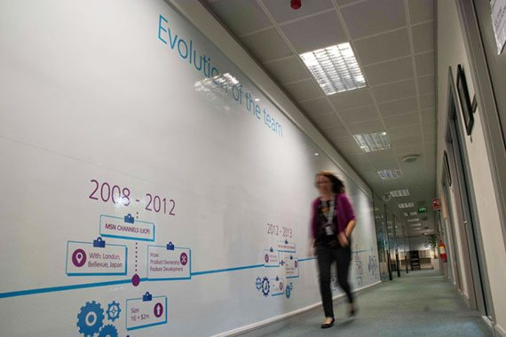 office whiteboard used as staff training tool
