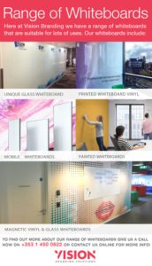Range of Whiteboards for Offices - Vision Branding Solutions