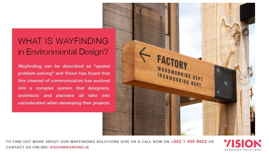 What is wayfinding - Environmental Design - Vision Branding Solutions Ireland